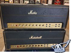 Joe Perry of Aerosmith's Vintage Marshall Vintage Marshall Super PA 100's - These are in need of some TLC & maintenance in order to be as road worthy as possible for Joe Perry for the upcoming Aerosmith tour. We wanted to quickly share this with you as we've always enjoyed vintage pieces like this. We hope you like seeing it too! As always feel free to share the pics as much as you like.More to follow on these shortly so stay tuned! - Trace Davis, President / Founder