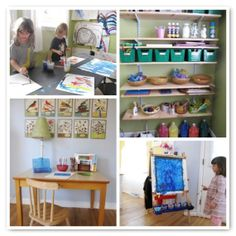 Making Space for Kids' Art: 6 ideas for creating a dedicated art space + an art supply list