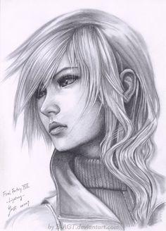 Lightning Final Fantasy XIII by B-AGT.deviantart.com on @deviantART