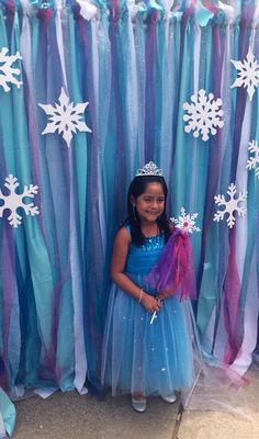 Frozen photo back drop and wand by Bizzie Bee Creations