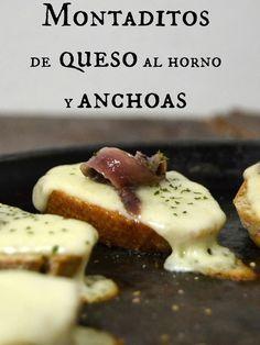 Cuuking! Recetas de cocina: Montaditos de queso al horno con anchoas