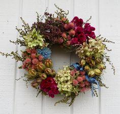 Spring Wreath, Mother's Day Wreath, Small Wreath, Dried Flower Wreath