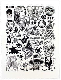 """Modern Hieroglyphics"" Art Print by Mike Giant"