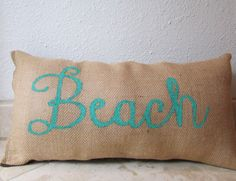 Nautical Themed Cursive Decorative Lettering Beach by Navybella, $25.00