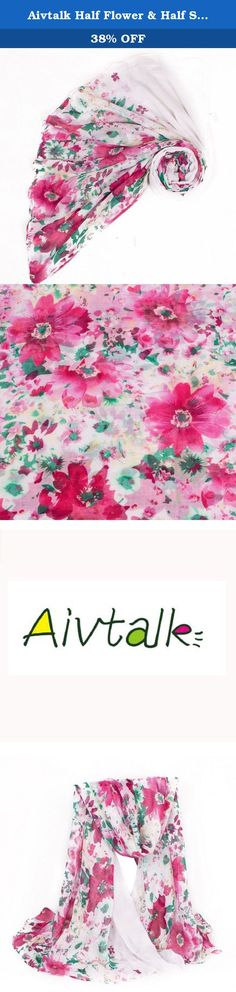 Aivtalk Half Flower & Half Solid Color Soft Voile Women Fashion Scarf 180*110CM. Features: Gorgeous & beautiful All-match for any dressing styles Warm and soft Lightweight can be taken into bag whenever you need Specifications: Material: Volie Occasion: Daily Size: 180*110CM / 70.87*43.30inch Pattern: Floral Gender: Women Seansons: Spring / Autumn / Winter Style: Scarf Colour: As the Picture shown Notice: The measurement may have 1-3cm (0.39-1.18inch) inaccurate errors. There might be…