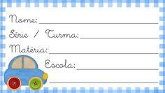 Imprima em casa: Etiquetas para material escolar Photo Frame Maker, School Labels, Name Tags, Education, Cards, 1, Yorkshire, Printable Labels, School Notebooks