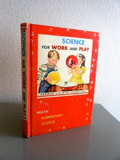 Vintage Science For Work and Play Elementary by rarebirdboutique, $16.00