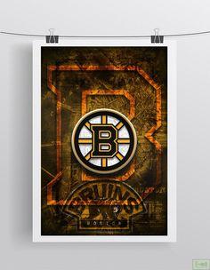 Man Cave Posters, Hockey Posters, Boston Bruins Wallpaper, Boston Bruins Hockey, Sports Fanatics, Boy Room, Display, Artwork, Prints