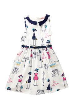 Paulinie | Printed Belted Dress (Toddler, Little Girls, & Big Girls) | HauteLook