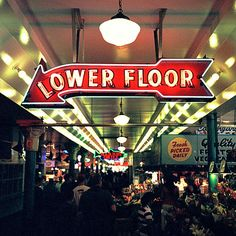 Pike Place Market /  best part.   BIG rooms of old, old furniture ---- we wanted to live down there ...