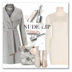 """The Perfect Nude Lip"" by andrejae ❤ liked on Polyvore featuring beauty, Loro Piana, Miss Selfridge, Burberry, Betsey Johnson, Gianvito Rossi, nudelip, polyvoreeditorial and polyvorecontest"