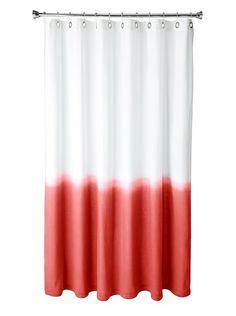 Boho chic! Nine Space Dip-Dye Shower Curtain, Red at MYHABIT $32