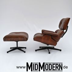 "Eames Lounge Chair 1980 by ""Herman Miller by Vitra"" Rosewood / Brown Leather"