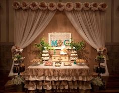 Ruffled Burlap Tablecloth by The decorator