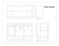 Kitchen Pantry Cabinet Plans - Home Furniture Design Kitchen Island Bench, Kitchen Pantry Cabinets, Kitchen Storage, Storage Spaces, Locker Storage, Kitchen Hacks, New Kitchen, Home Furniture, Furniture Design