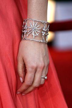 Cathy Waterman Large Diamond and Platinum Cuff