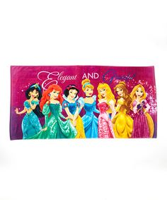 Look what I found on #zulily! 'Elegant & Graceful' Disney Beach Towel #zulilyfinds