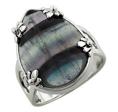 Sterling Silver Gemstone Ring - FLOURITE