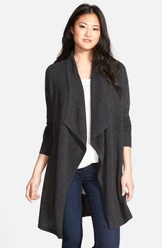 Free shipping and returns on Halogen® Cashmere Long Drape Front Cardigan at Nordstrom.com. Wrap yourself in lush softness with a long cashmere cardigan with elegantly draped front panels.