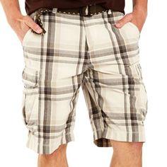 Arizona Plaid Cargo Shorts - Big & Tall - jcpenney Sale $8