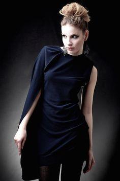 Cocktailkleider - NARA® Kocktailkleid Dark Blue - ein Designerstück von Berlinerfashion bei DaWanda