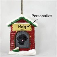 """Portuguese Water Dog Personalized Dog House Christmas Ornament: """"You will be thrilled to be in the… #PetProducts #PetGifts #AnimalJewelry"""