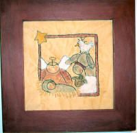 Life's a Stitch Christmas Manger, Show And Tell, Teaching Art, Stamp, Stitch, Sewing, Fabric, Artwork, Pattern