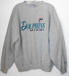 VINTAGE NFL MIAMI DOLPHINS SWEATSHIRT Men Size XL ~Excellent #LOGOATHLETICSNFL #MiamiDolphins