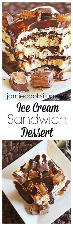 Ice Cream Sandwich Dessert from Jamie Cooks It Up