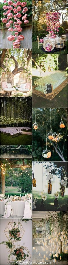 hanging wedding ideas and themes / http://www.deerpearlflowers.com/hanging-wedding-decor-ideas/