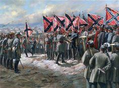 First Battleflags  Don Troiani artwork