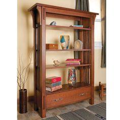 Arts & Crafts Bookcase Woodworking Plan by Woodcraft Magazine