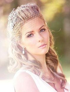 Wedding Hairstyle Birdcage Veil