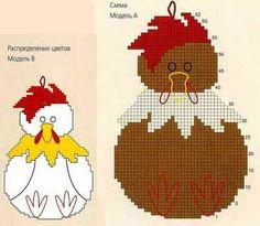 Схема к моделям для прихватки - Яйца курицу не учат