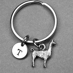 Llama keychain Llama charm Lama keychain by chrysdesignsjewelry
