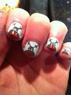Rudolph nails! #FestiveFingertips