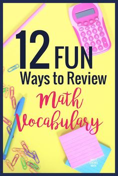 Math vocabulary practice is so important for students! These ideas for activities and games will help you find fun and engaging ways to practice with your students. Geometry Vocabulary, Vocabulary Practice, Teaching Vocabulary, Vocabulary Activities, Math Games, Vocabulary Strategies, Vocabulary Words, Teaching Spanish, Math Resources