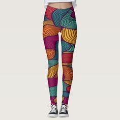 Spaghetti In Color Leggings - cyo diy customize unique design gift idea perfect