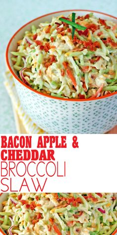 Bacon Apple Cheddar Broccoli Slaw