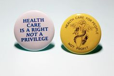 Remade Vintage Universal Healthcare Medicare For All Pinback Buttons Pins Badges