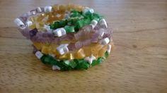 Lottie Bracelet  Beaded Memory Wire Bracelet in by luckyblacksheep, $13.00
