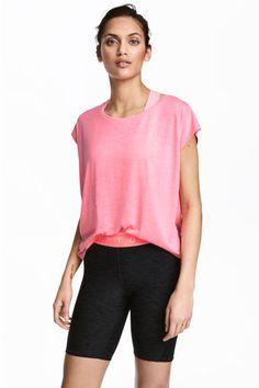 Sports top - Neon pink marl - Ladies   H&M GB 1