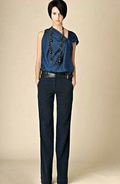 Las blusas de cortes asimétricos te estilizan el torso ¡Por eso las amo! - Outfit de trabajo