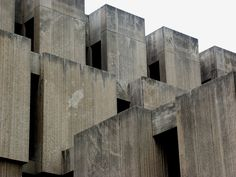 The Joseph Regenstein Library at University of Chicago. Built in 1970 and designed by Walter Netsch of Skidmore, Owings, and Merrill.