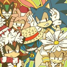 Sonic, Shadow, Silver, Amy, Metal Sonic  Mephiles