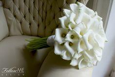 Bukiet ślubny Panny Młodej z białej kantadeski od FollowMe DESIGN/ White Calla Lily Bridal Bouquet by FollowMe DESIGN