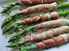 Prosciutto wrapped Asparagus with Parmigiano Reggiano