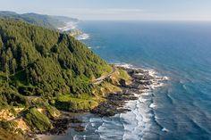 Highway 101 along the Oregon coast near Florence, Oregon