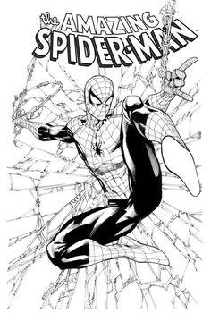 Robert Atkins Art: The Amazing Spiderman Inked. Spiderman Kunst, Spiderman Tattoo, Spiderman Drawing, Spiderman Coloring, Superhero Coloring, Marvel Coloring, Comic Books Art, Comic Art, Arte Dc Comics