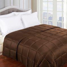 Superior All Season Down Alternative Reversible Blanket Chocolate - BLANKET KG CH